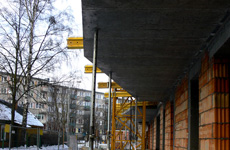 Building of the apartment block at Spacerowa Street